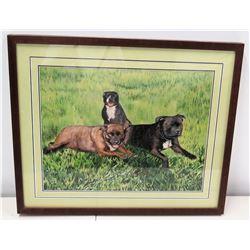 Framed Art, 3 Dogs (Jim Nabors' Dogs)