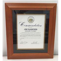 "State of Hawaii Governor's Congratulatory Letter to Jim Nabors, USS Missouri ""Night of American Hero"