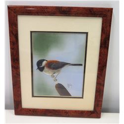 Framed Art, Bird, Written Note on Back of Frame by Artist Ruthie Buzzi, Presented to Jim Nabors