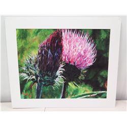 """Giclee Artwork, Signed, Ltd. Ed. """"Fairy Broom"""" 9/15, Artist Linda V.G. Kelley, 20"""" x 24"""""""