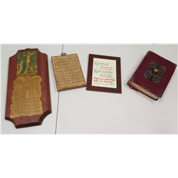 Red Bound Bible & Misc. Religious Items