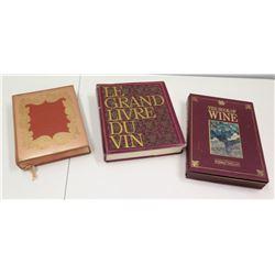Qty 3 Hardbound Wine Books