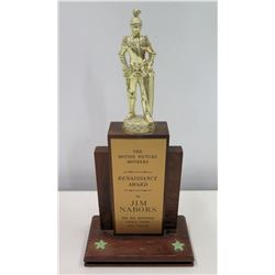 """Award Trophy, Motion Picture Mothers, Renaissance Award to Jim Nabors 13"""" H"""