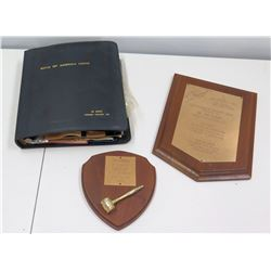 Boys of America Scrapbook 1965 (Jim Nabors Honorary President), Boys Home of the South 1967 Plaque,