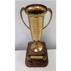 "1st Place Jasons Jamboree 1951 Trophy Presented to Jim Nabors by Delta Eta 13"" H"