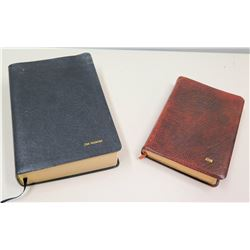 Qty 2 Bibles, Presented to Jim Nabors 2001