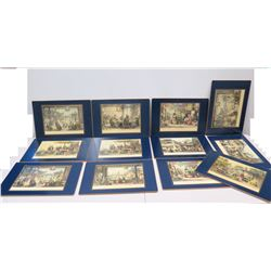 """Placemats Depicting Ancient Asian Scenes (from Lady Clare, England) 18"""" x 12"""""""