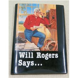 'Will Rogers Says' Presented to Jim Nabors by Reba Collins (Director, Will Rogers Memorial) 1988