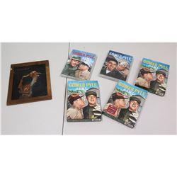 Qty 5 DVDs, Gomer Pyle USMC & Framed Brass Profile