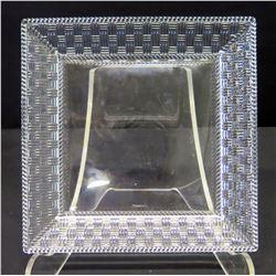 "Tiffany & Co. Woven Pattern Glass Tray 8"" x 8"""