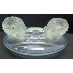 "Lalique Frosted Vase, Approx. 11"" Dia."