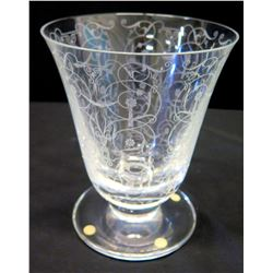 """Baccarat Tapered Footed Crystal Vase, Approx. 5.5"""" Dia., 7"""" H"""