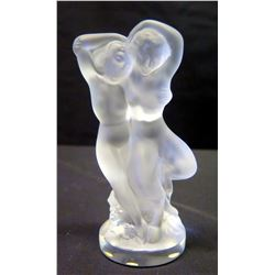 "Lalique Frosted Intertwined Figures, Approx. 5.5"" H"