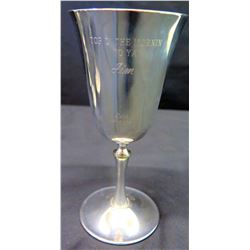 Stemmed Goblet, Italy, Inscription 'Top O' the Mornin to Ya Jim, Sean 12-2-74'