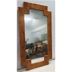 "Geometric Burle Wood Mirror 27"" x 48"""