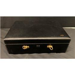 Black Leather Jewelry/Keepsake Box w/ Initials JN