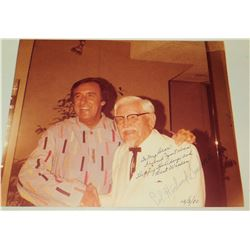 Colonel Sanders Autographed Photograph to Jim Nabors