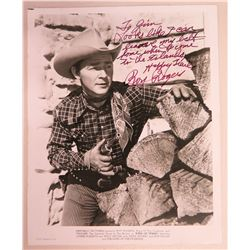 Roy Rogers Autographed Photograph to Jim Nabors