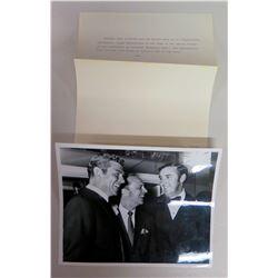 Andy Grffith, Don Knotts, Jim Nabors B&W Photo w/ Typewritte Caption on Back