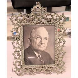 Autographed Photograph - President Harry S. Truman in Ornate Frame (photo 8x10)