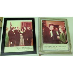 Qty 2 Autographed Photos - President Ronald & Nancy Reagan w/ Jim Nabors