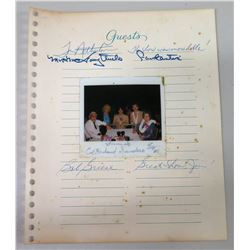 Signed Guest Book Pages & Photo w/ Colonel Sanders