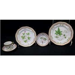 Royal Copenhagen Flora Danica  5-Pc Set: Dinner, Salad, Dessert Plates, Teacup & Saucer