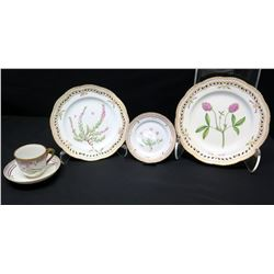 Royal Copenhagen Flora Danica  5-Pc Set: Dinner, Salad, Bread-and-Butter, Teacup & Saucer