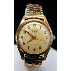 Benrus Watch, Gold Tone, Self-Winding