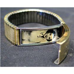 Bracelet w/ Black & White Photo, Engraved 'Happiness Always Jim'