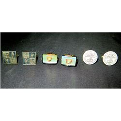 3 Pairs of Cuff Links: Pearls, Musical Notes, State of Tennessee