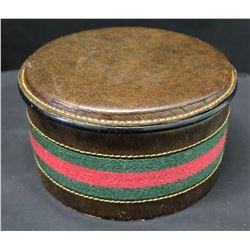 Round Leather Gucci Trinket Box