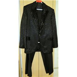 Red Beaded Cotroneo Suit Jacket Pants Costume Worn by Jim Nabors