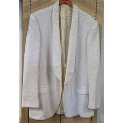White Beaded Cotroneo Suit Jacket Costume Worn by Jim Nabors