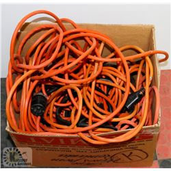 BOX OF ASSORTED CORDS