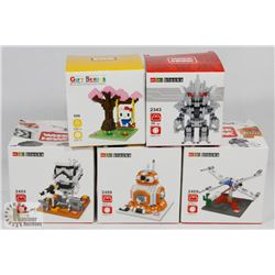 FLAT OF ASSORTED MINI BLOCKS INCL STAR WARS, HELLO