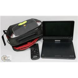 SONY PORTABLE DVD/CD PLAYER WITH CASE AND MANUAL.