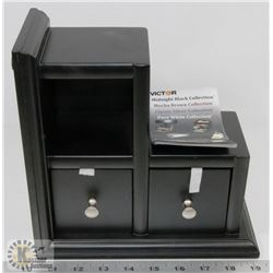 SMALL BLACK VICTOR DESK ORGANIZER