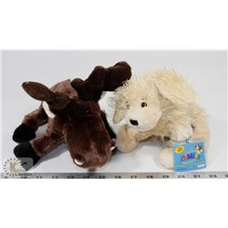 WEBKINZ MOOSE PLUSH (HM375) WITH GOLDEN RETRIEVER