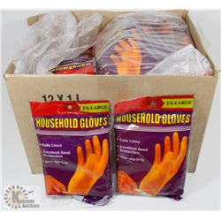 CASE OF HOUSEHOLD XL GLOVES