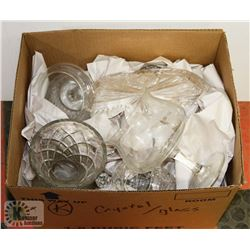 ESTATE BOX OF CRYSTAL AND GLASSWARE