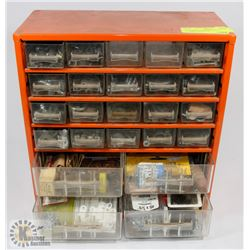 24 DRAWER HARDWARE STORAGE FOR NUTS/BOLTS.