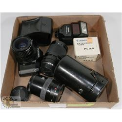 35 MM PENTAX P3N CAMERA & CAMERA ACCESSORIES