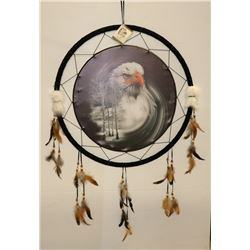 "NEW EAGLE LARGE DREAMCATCHER 24"" WIDE"