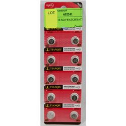 PACK OF 10 AG5 WATCH BATTERIES