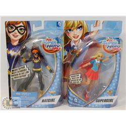 NEW DC SUPERHERO GIRLS BATGIRL AND SUPERGIRL
