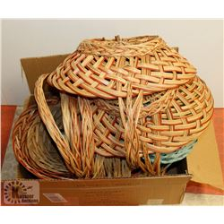 BOX OF EASTER WICKER BASKETS