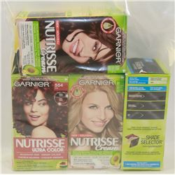 4 ASSORTED BOXES OF HAIR DYE