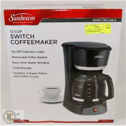 SUNBEAM 12 CUP SWITCH COFFEEMAKER-BLACK