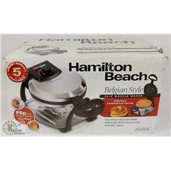NEW HAMILTON BEACH BELGIAN STYLE WAFFLE MAKER